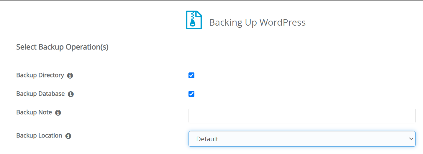 Backuping up WordPress in cPanel