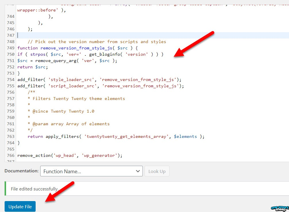 Remove WordPress Version From CSS And Scripts