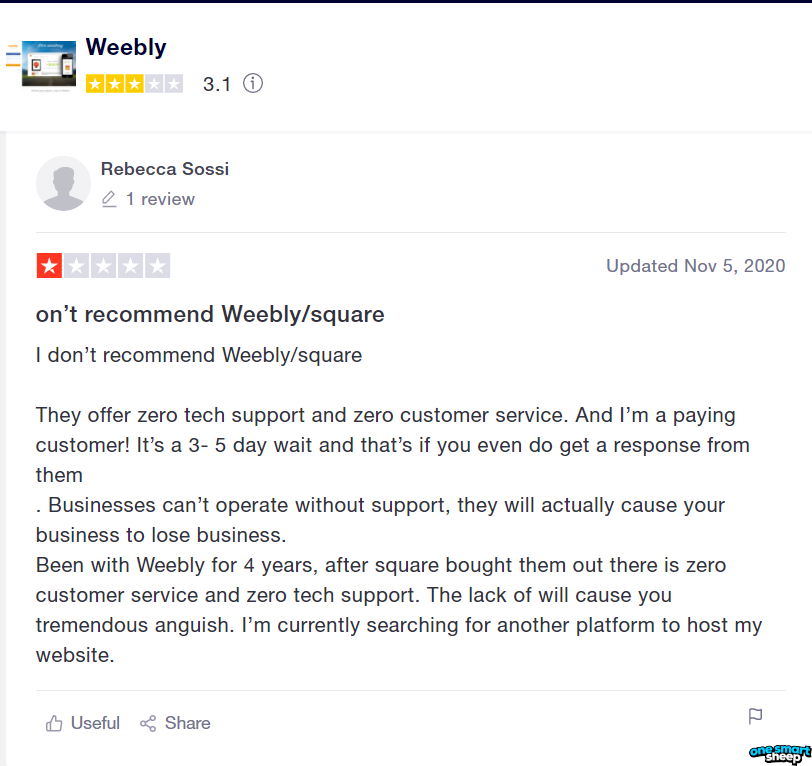 Weebly Poor Support