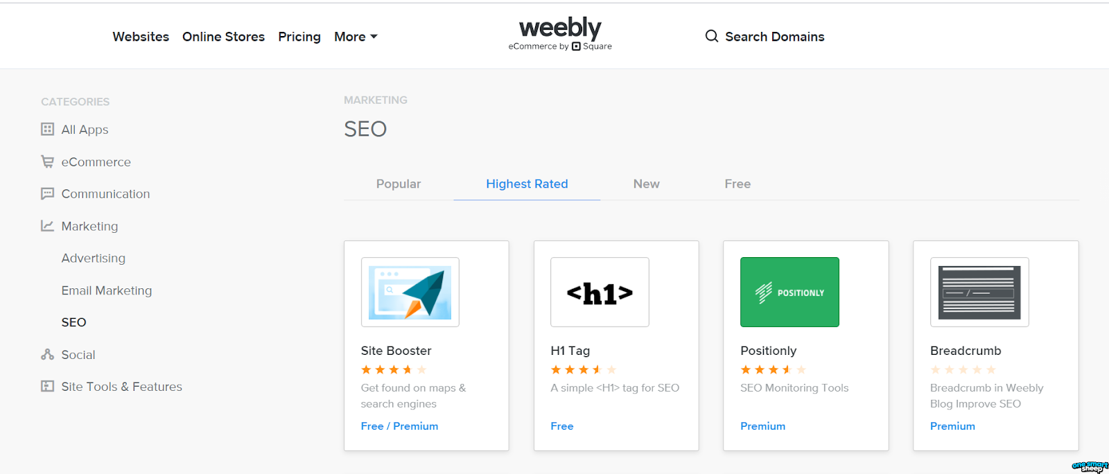 Weebly SEO apps