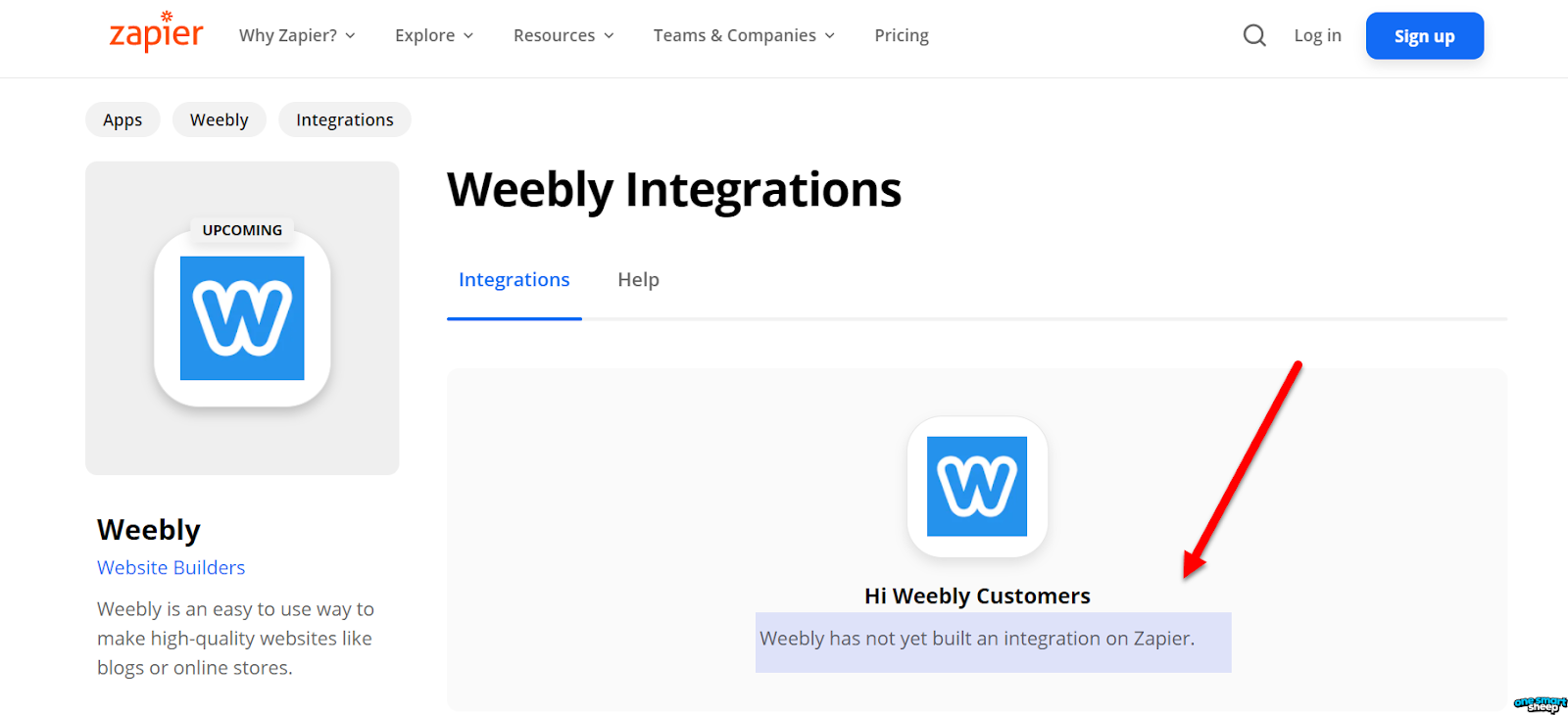 Weebly Zapier integration