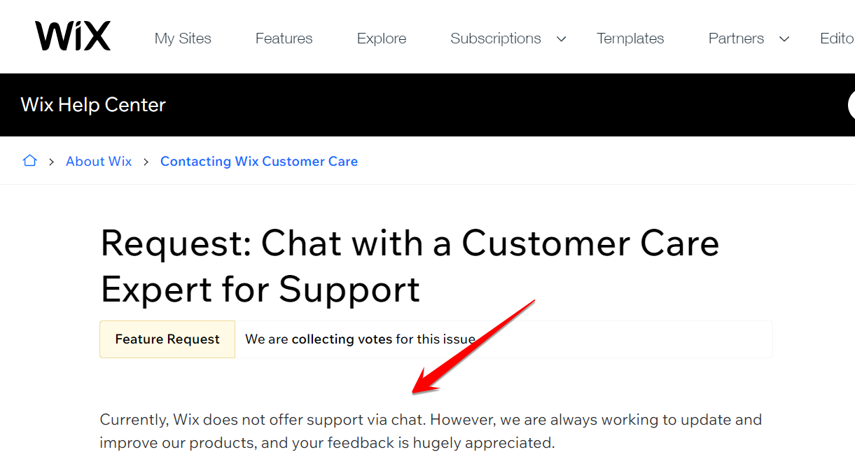 Wix No Live Chat