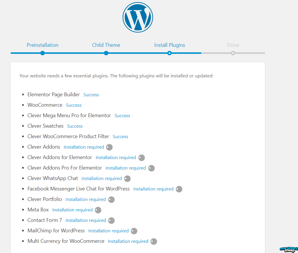 WordPress Demo Installation