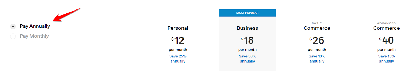 Yealy Pricing SquareSpace