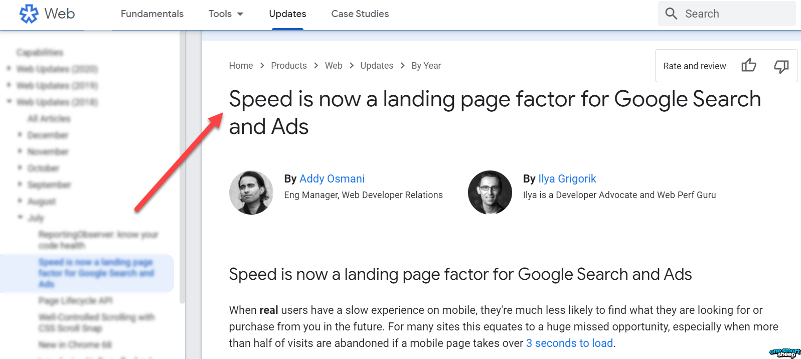 Speed Is A Ranking Factor