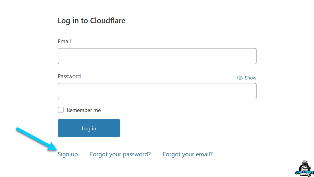 Cloudflare SIgn In
