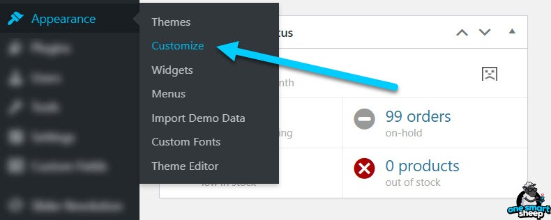 Customize WordPress Settings