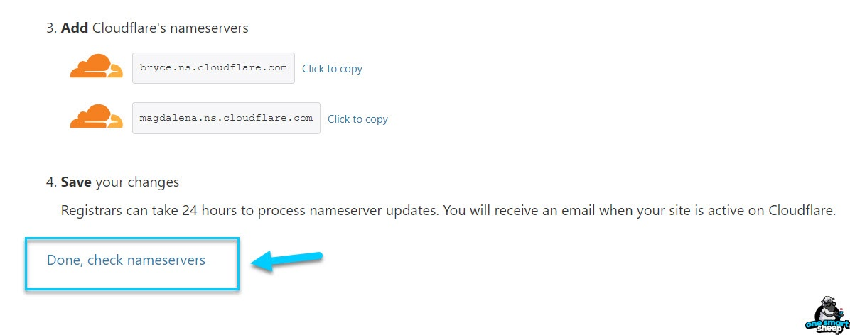 Done Check Server In Cloudflare