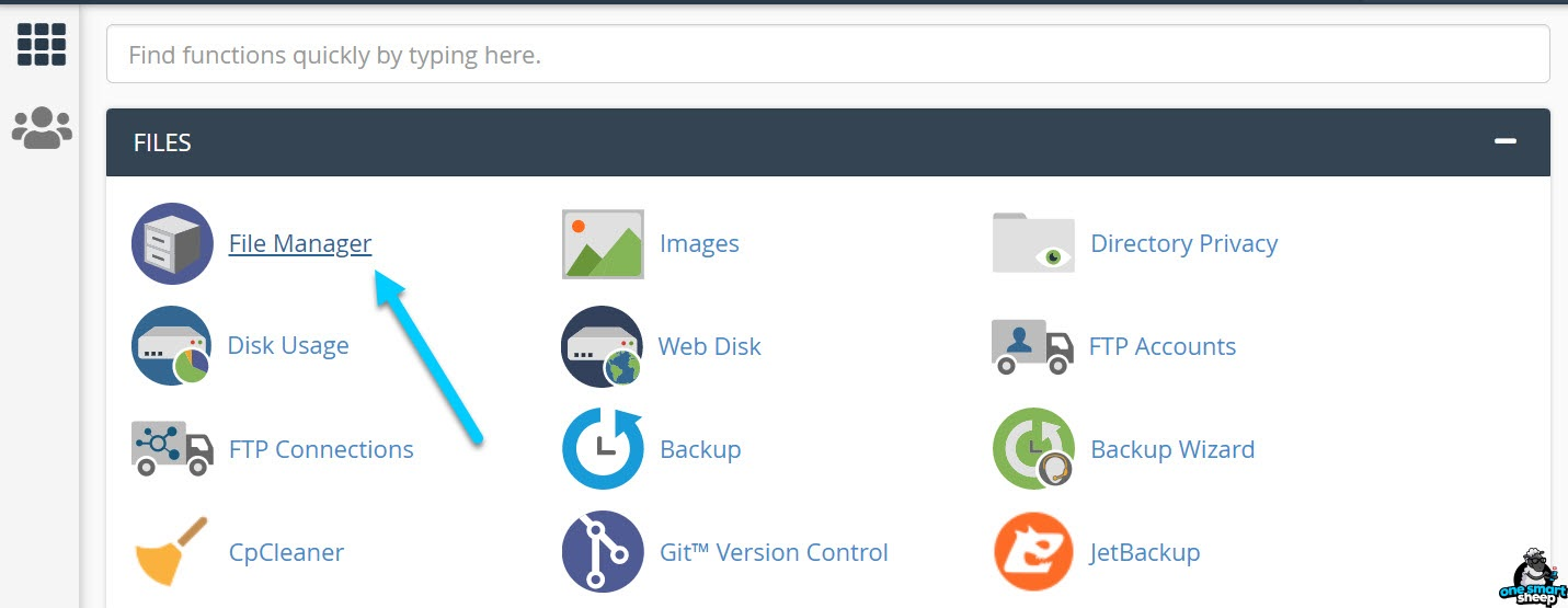File Manager Of CPanel 1