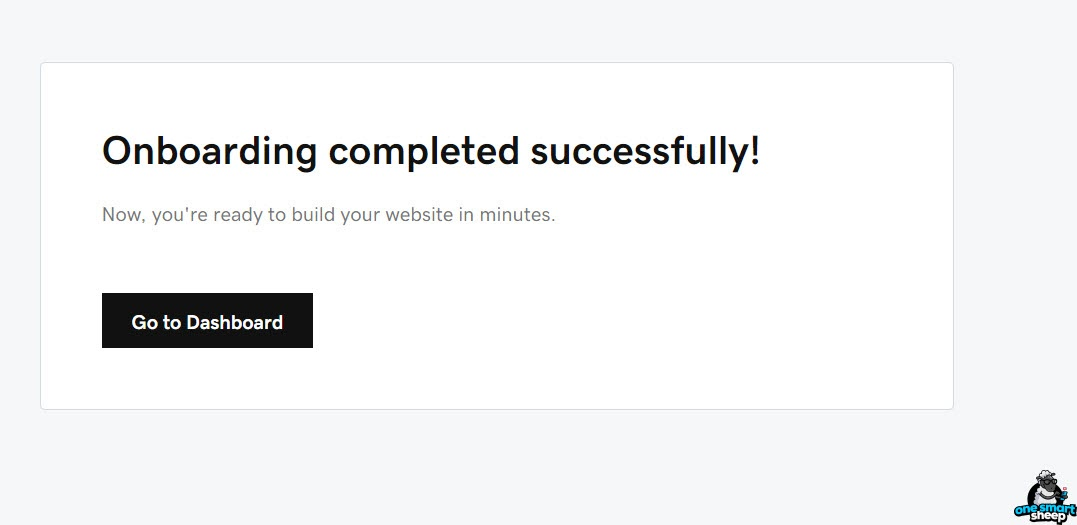 Onboarding Completed Successfully