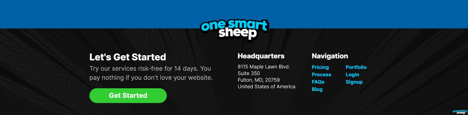One Smart Sheep Footer